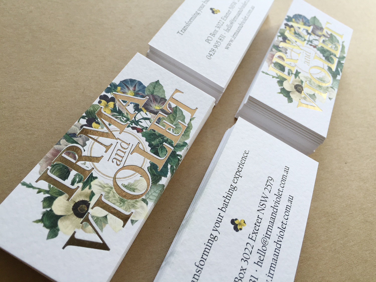 Foil Press Business Cards