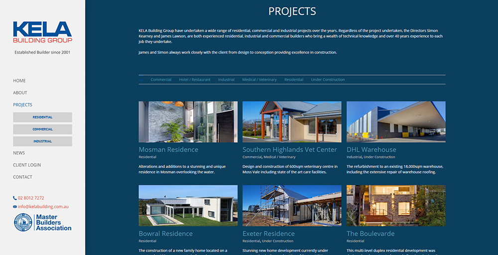 Previous Site Design